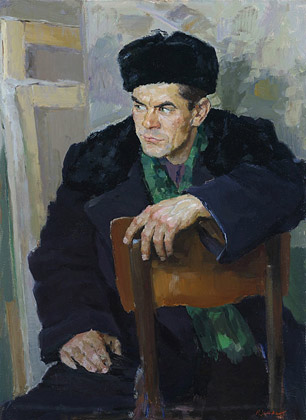 Portrait of the painter Chulkov. 1957