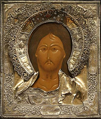 59. The Pantocrator. Begin 19th century. Silver cover, Moscow 1847