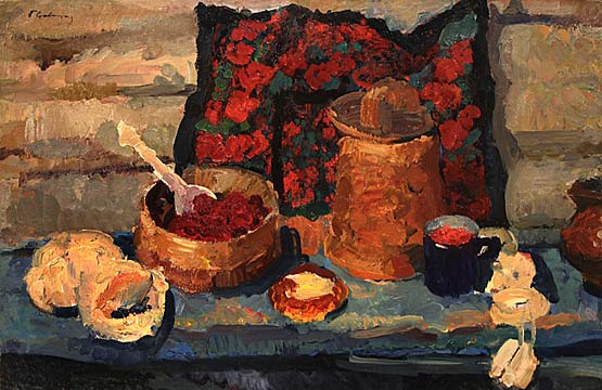 Still life with cakes.1970