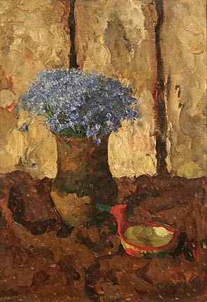 Still life with cornflowers.1957
