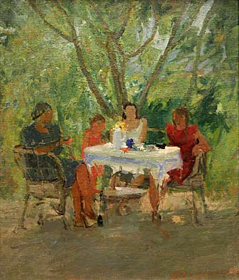 In the Garden at the Table.1940